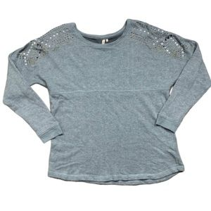 Red Camel Grey Beaded Top Size XL